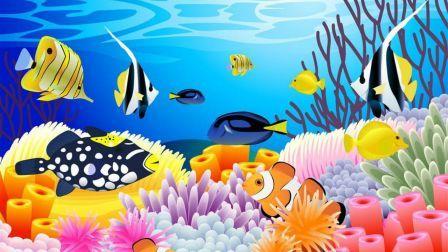 Under The Sea Corals Cartoon Fish Abstract Hd Wallpaper Fish Art Fish Wallpaper Cartoon Fish