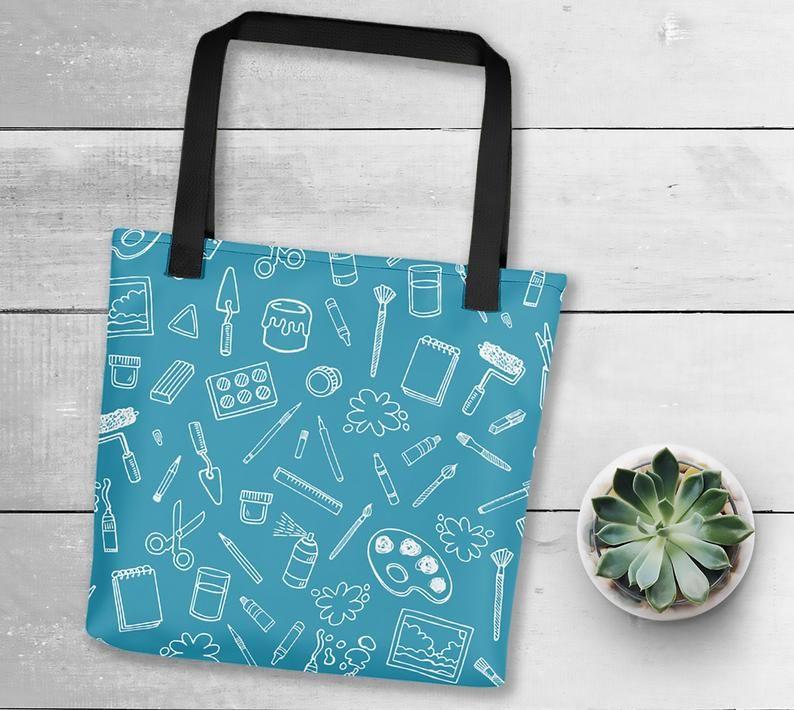 Artist supplies tote bag gift for artists art bag