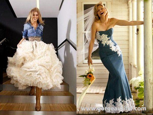 Denim Wedding Guest Dress