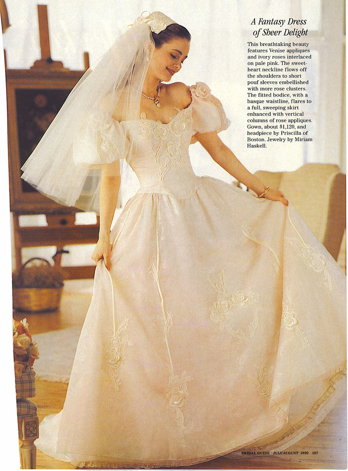 Priscilla Of Boston 1990 Priscilla Of Boston Wedding Gowns