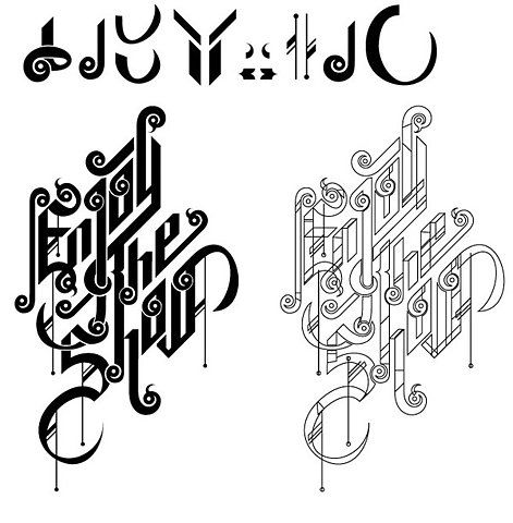 Typography on the Behance Network