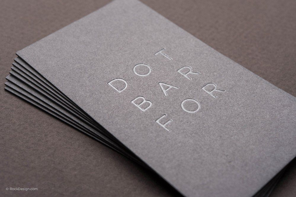 Gray thick white foil template 5 | Business Card Design | Pinterest ...
