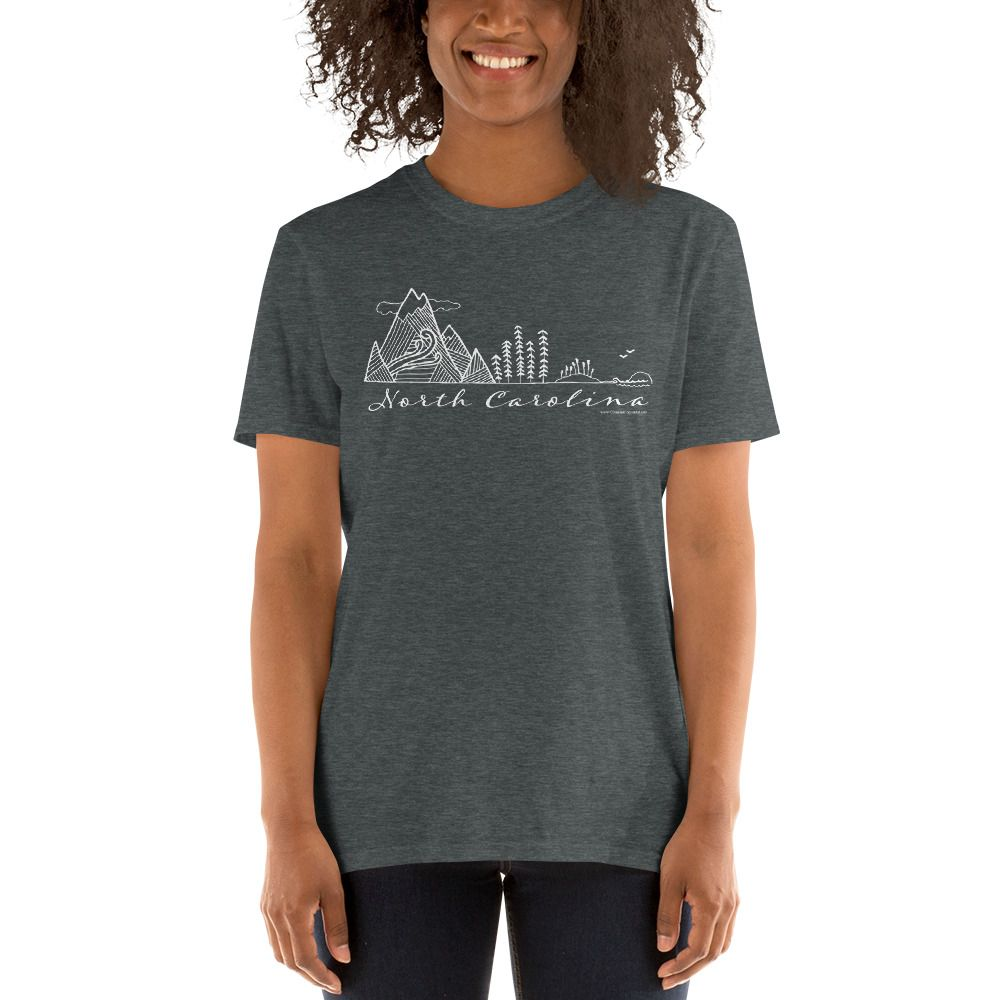North Carolina Mountains To The Sea T Shirt In 2020 Women