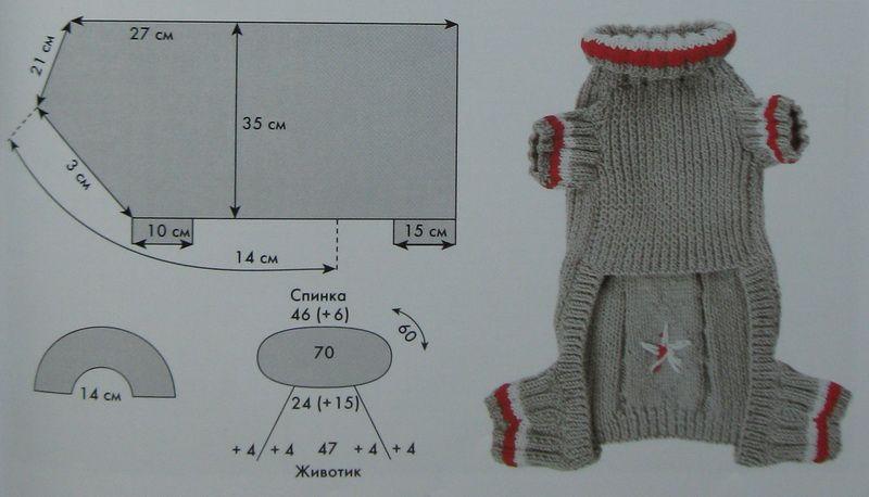 Схем вязания одежды для собак