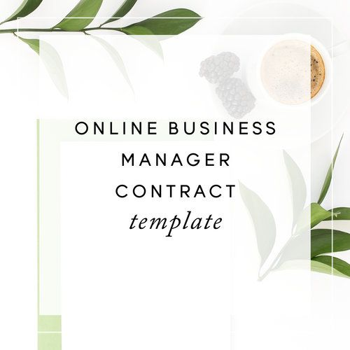 Online Business Manager Obm Contract Template PreSale  Small