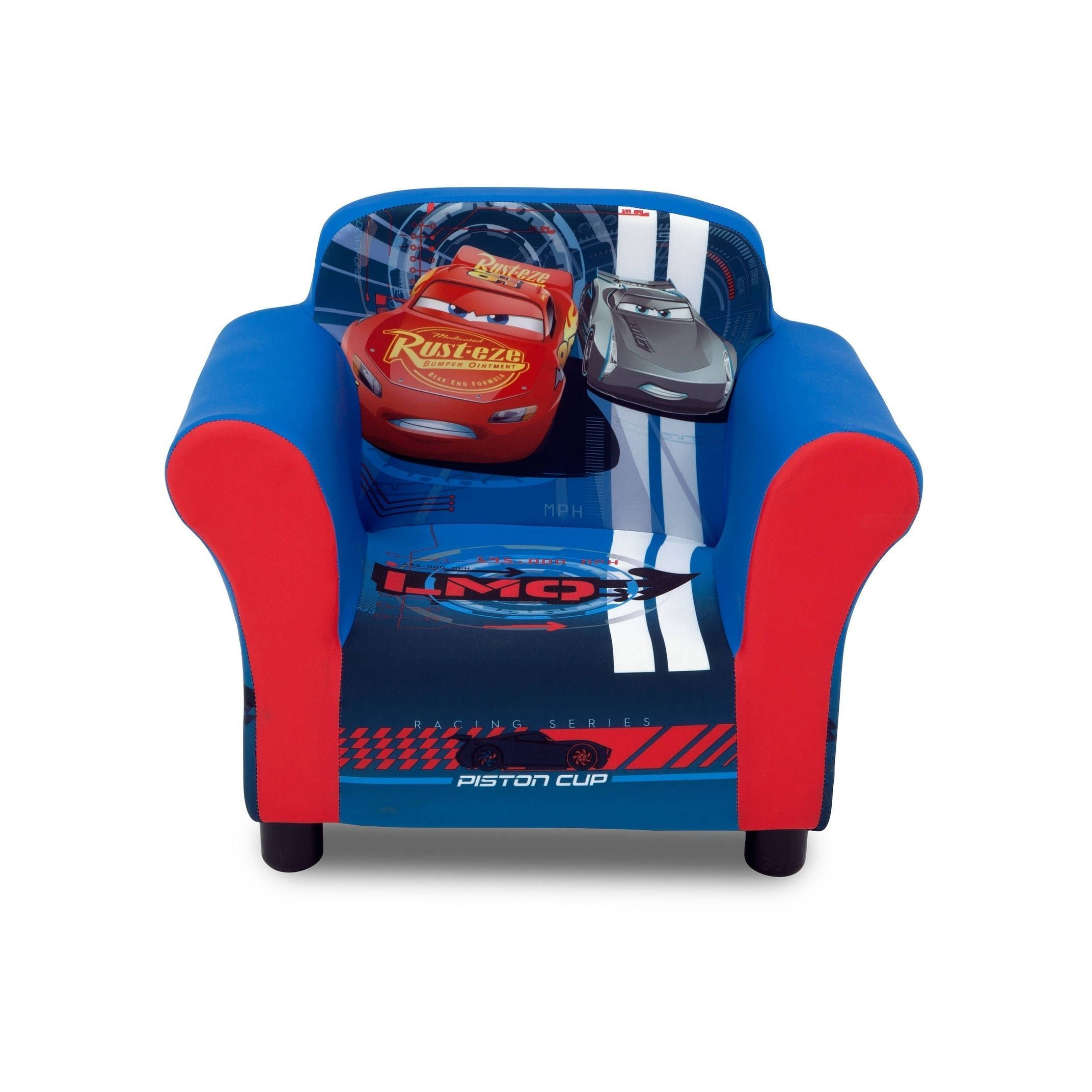 Toddler Chairs Upholstered Disney Pixar Cars Upholstered Chair Blue Polyester Blend