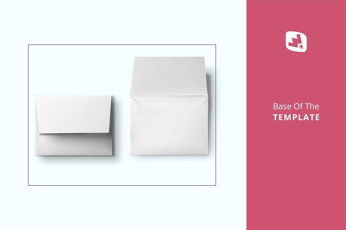 Top View Square Envelope Mockup Square Envelopes Mockup Design Graphic Design Company