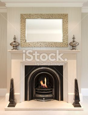 39 A Beautiful Fireplace In The Lounge Of A Luxury New Home Prepared
