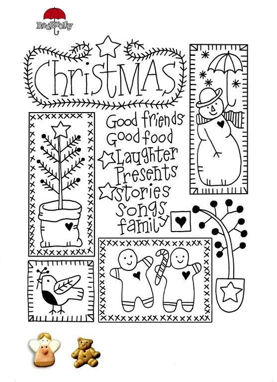 Free christmas Embroidery pattern_e_09g6 - via @Craftsy | Bordados ...