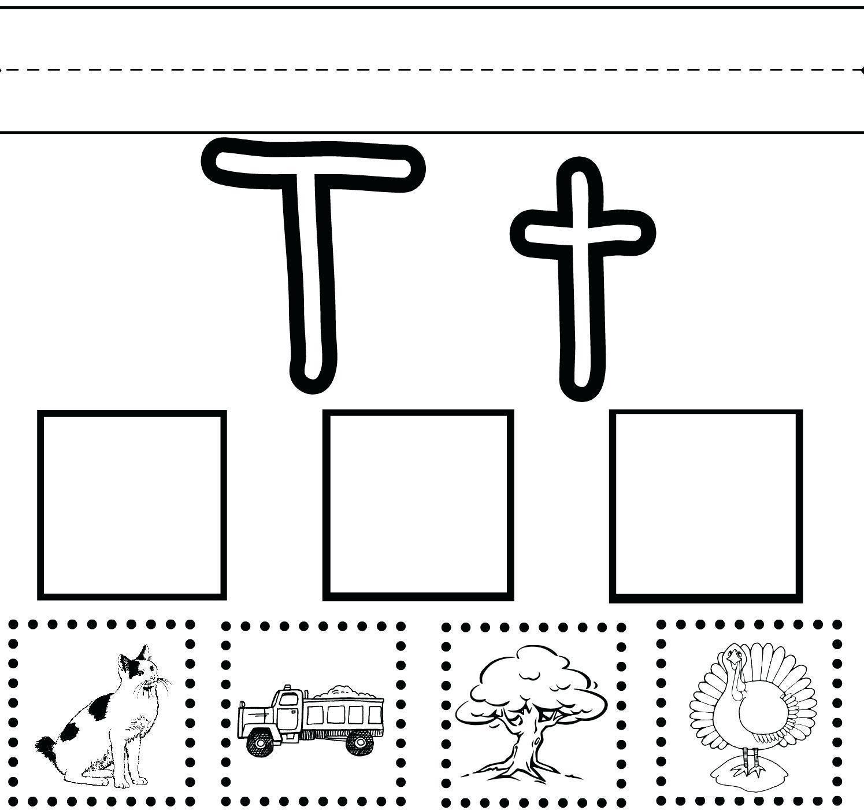 Letter T Worksheets For Toddlers in 2020 Letter t