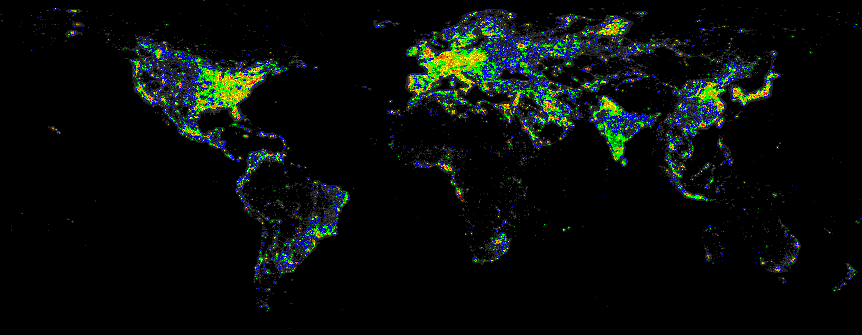 Light pollution map of the world maps pinterest light pollution light pollution map of the world gumiabroncs Images