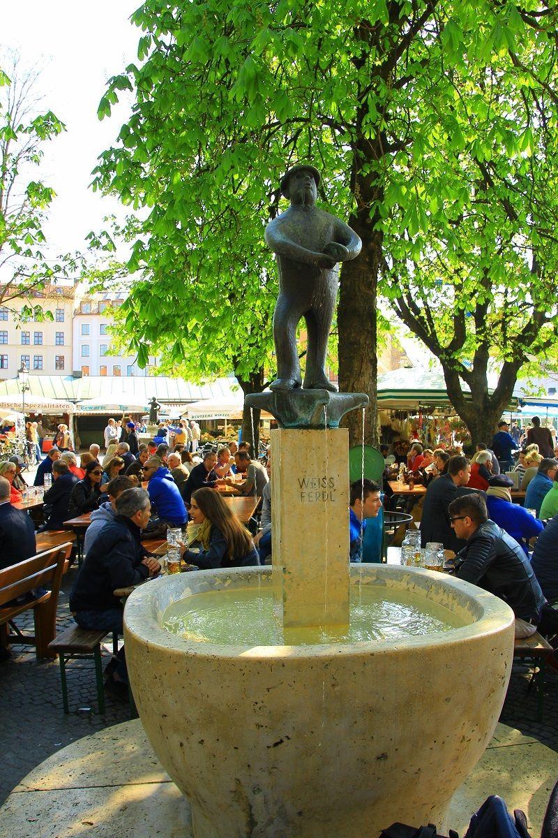 Viktualienmarkt Munich Munchen Leben Deutschland Germany