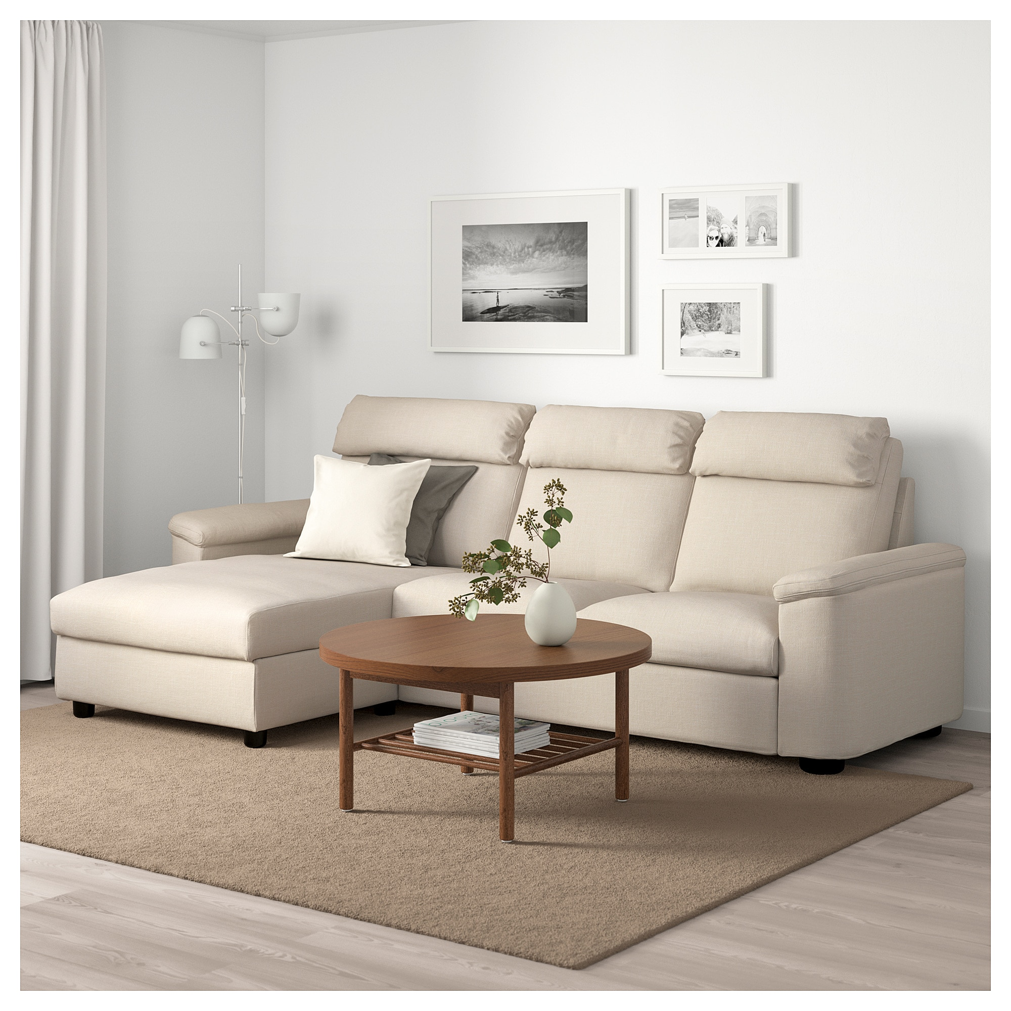 Ikea Lidhult Sofa With Chaise Gassebol Light Beige Home Sofa