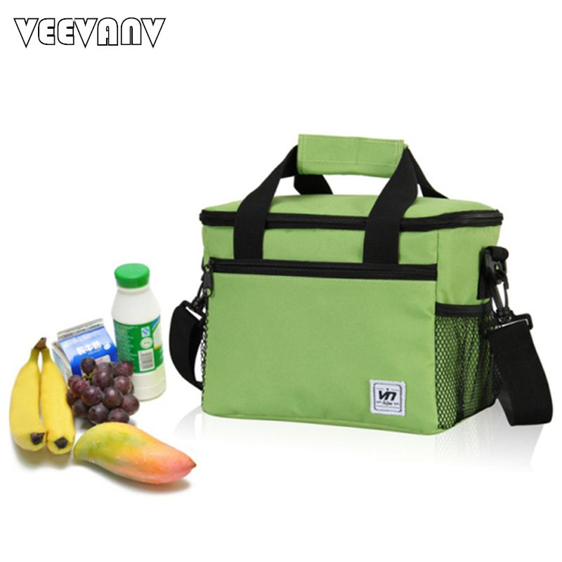 600D Material 24*16*19 CM Large Insulated Thermal Cooler Bags for Food Storage  Men's Picnic Travel Ice Bags Women Tote Handbags