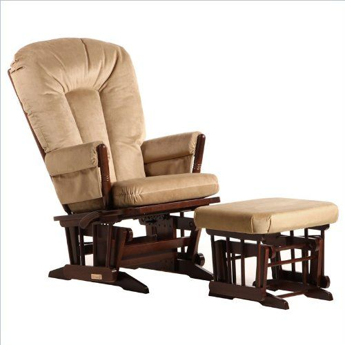 Awesome 2 Post Multiposition Glider and Nursing Ottoman Set in Brown Model - New rocker and ottoman Minimalist
