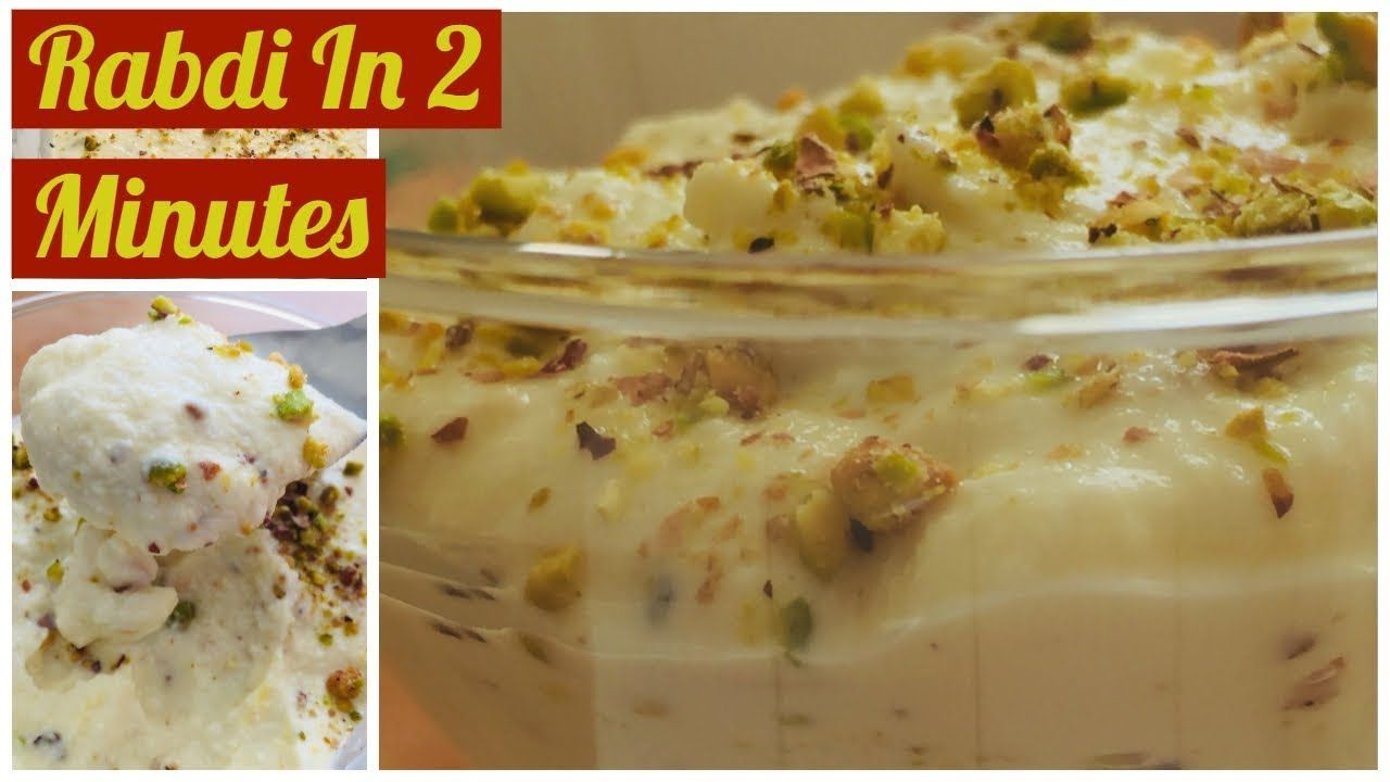 Instant Rabdi Recipe How To Make Rabdi From Ricotta Cheese Quick Rabdi R Rabdi Recipe Cooking Recipes Indian Sweet