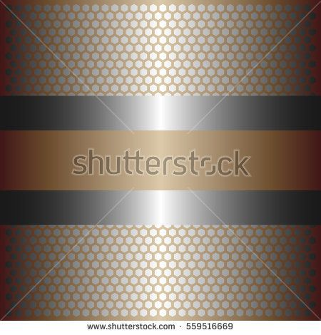 Shiny silver metal background.shiny silver line.shiny gold background .gold plate with hexagon holes style design