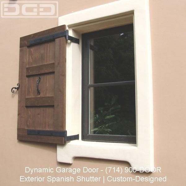 Spanish colonial window shutter design provided by dynamic for Spanish style interior shutters