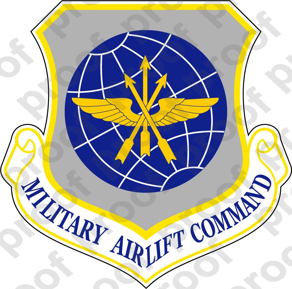 4 Sticker Usaf Military Airlift Command ebay Home