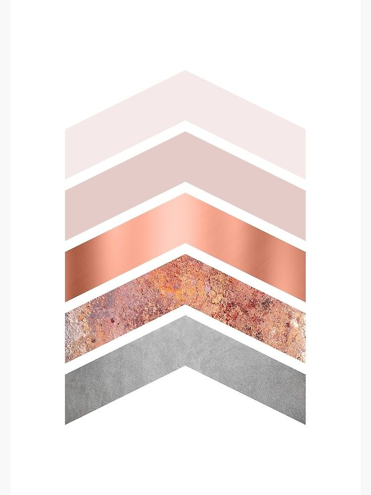 Blush and Rose Gold Chevrons Canvas Print by UrbanEpiphany