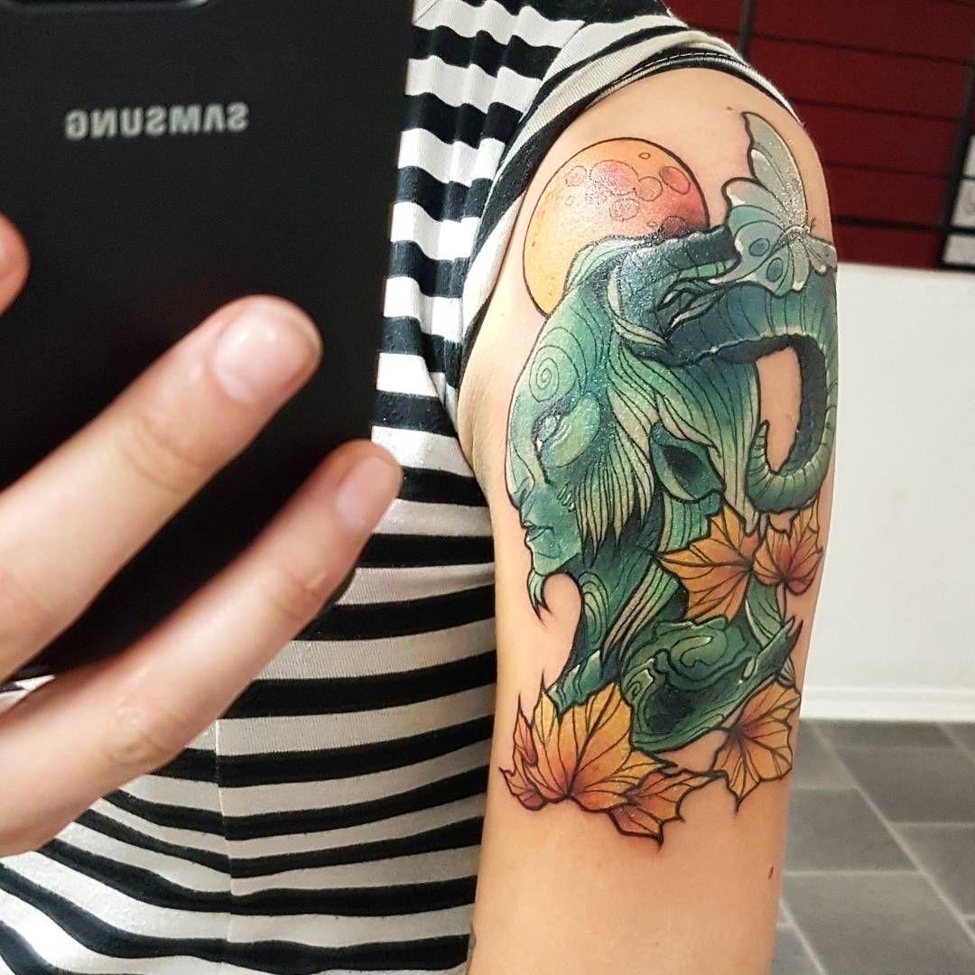 El fauno done by cesse larsson blekk tattoo oslo tattoos