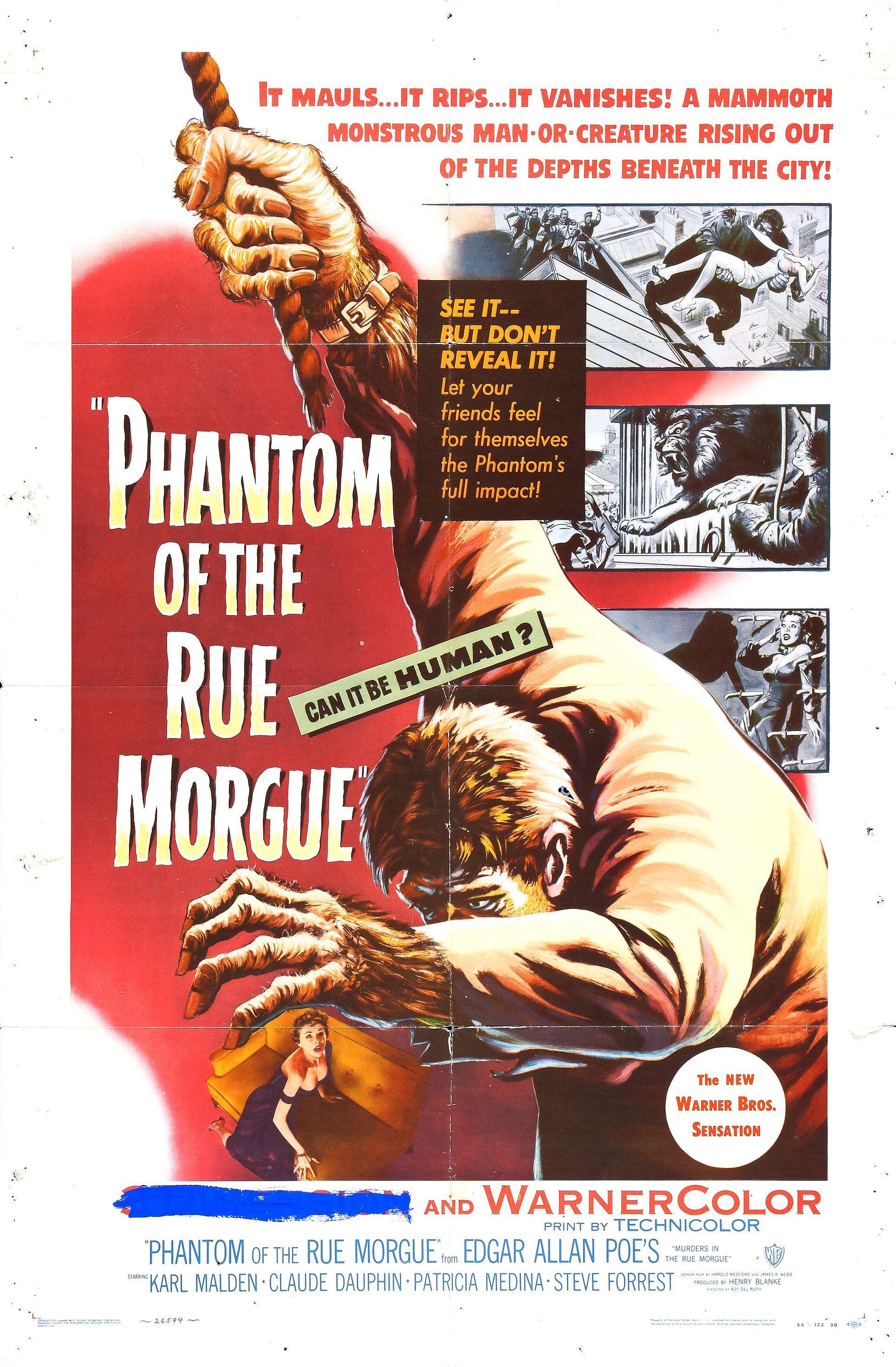 Phantom of the Rue Morgue (1954) | Horror Movie Posters ...