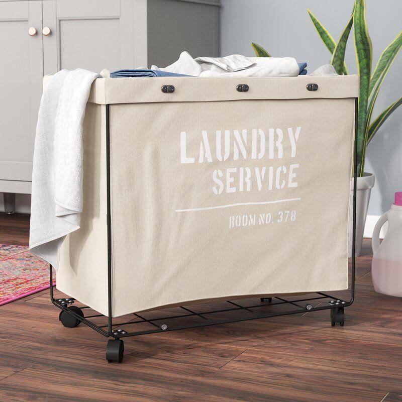 Lanham Army Canvas Laundry Hamper On Wheel Laundry Hamper