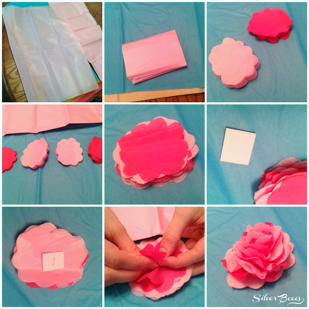 Silver Boxes How To Make Tissue Paper Flowers Tissue Paper