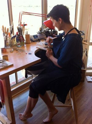 Silversmith Rebecca de Podolinsky from Pod Jewellery. Original pieces designed and handmade in Kyneton, Australia.