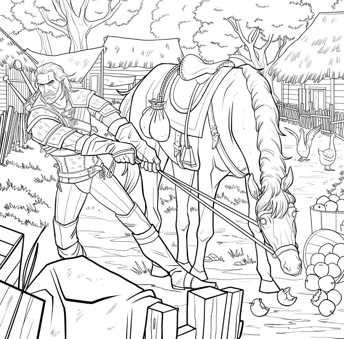 Leave Your Mark World Witcher Coloring Books Coloring Pages Cartoon Coloring Pages