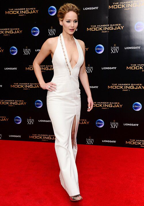 Jennifer Lawrence at the Mockingjay Part 1 after party