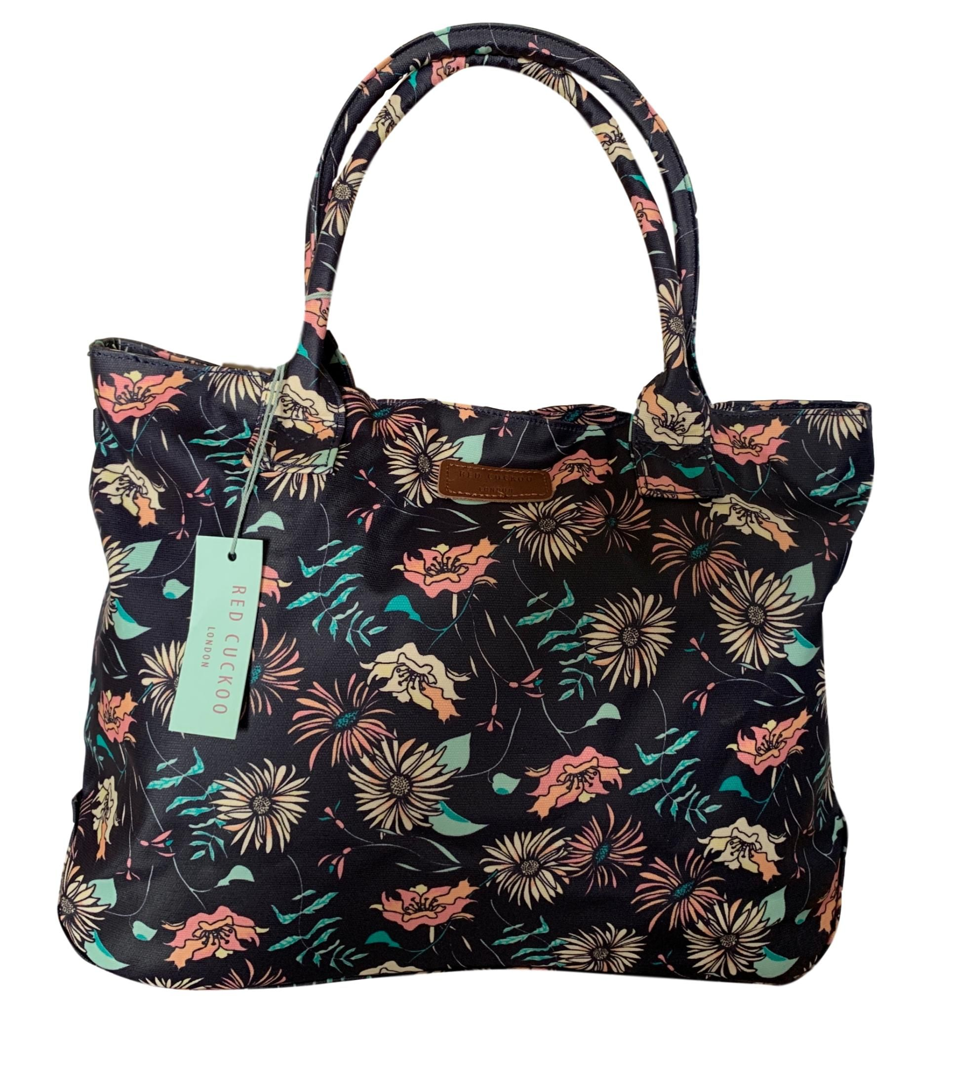 Ladies Women Large Printed Canvas Shopper Tote Bag Shoulder Holiday Beach Bag