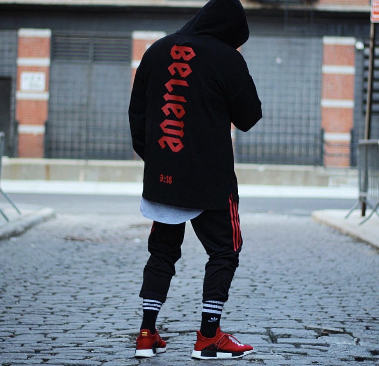 premium selection aa125 1d97d On feet: Chanel x adidas Originals Pharrell Williams Hu NMD ...