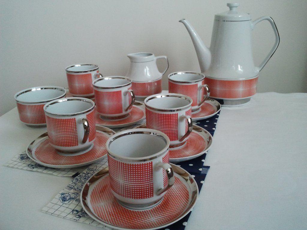 Porcelana Chodziez Komplet Kawowy 6 Osob 15szt 6246080262 Oficjalne Archiwum Allegro Servico De Cha Utensilios Domesticos Cafe