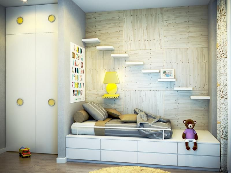 Wonderful 15 Functional And Cool Kidu0027s Bedroom Designs With Floating Shelves   Rilane