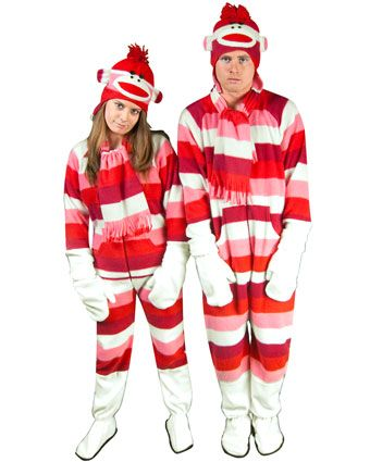 Striped Sock Monkey Costume with Butt Flap for Adults  54.95 ... 901092599