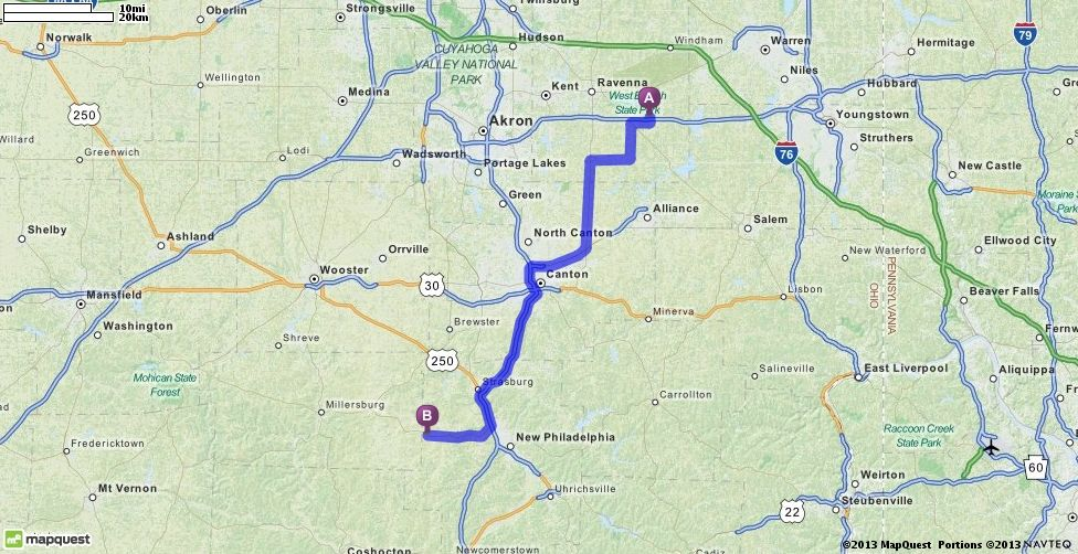 Driving Directions From 4128 7498 Alliance Rd Ravenna