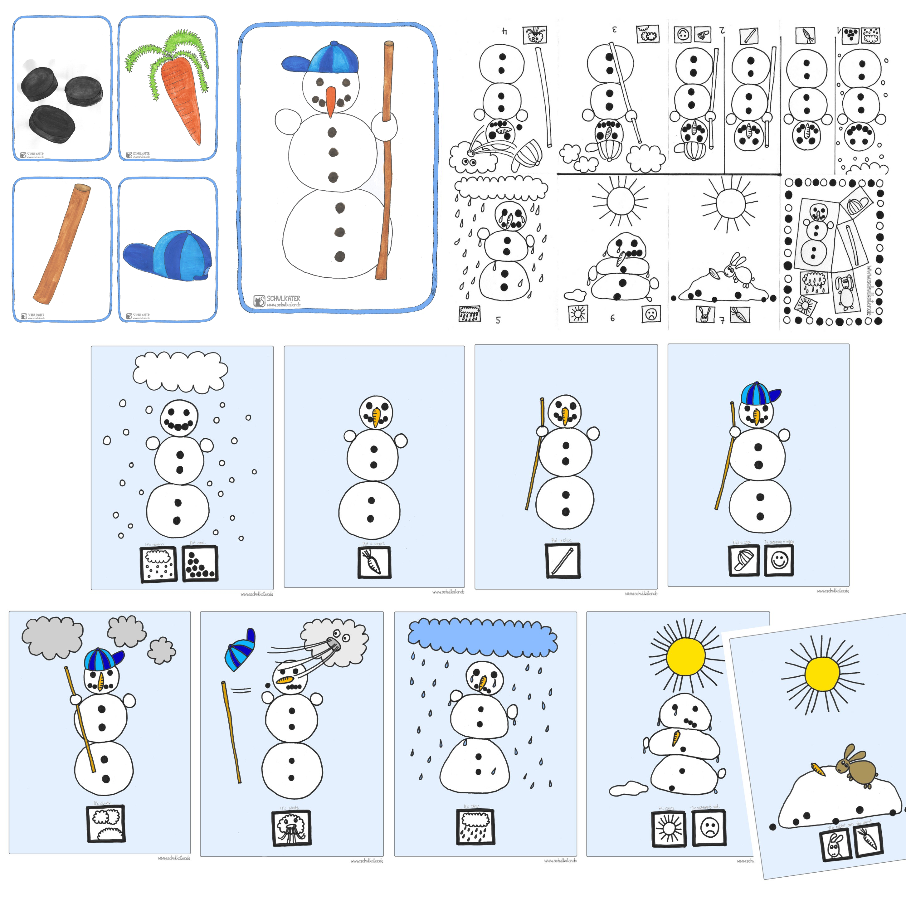 Es Schneit Und Hier Gibt Es Eine Snowman Story Fur