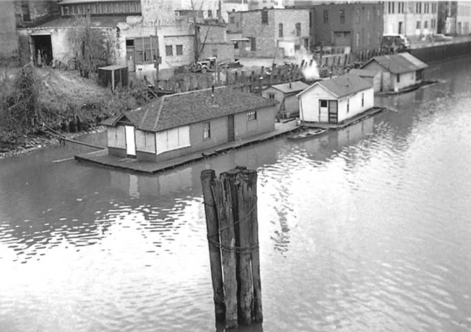 Houseboats on the Saginaw River, 1939