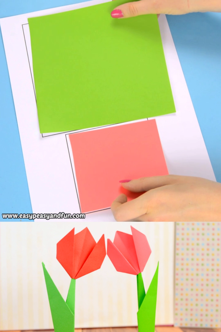 How To Make an Origami Tulip Flower - YouTube | 1080x720