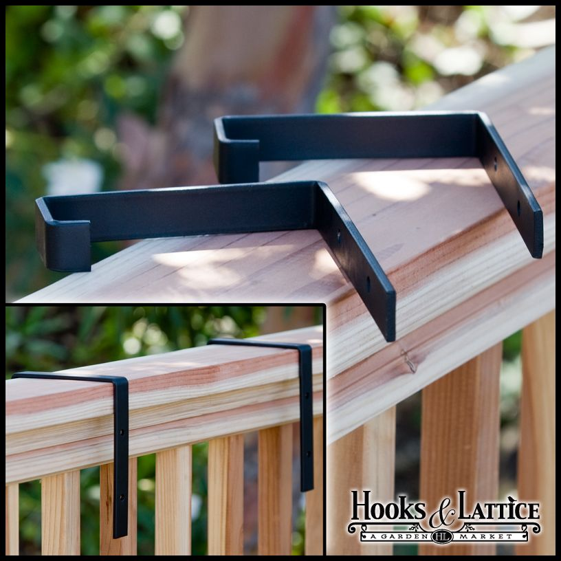 2 X 6 Deck Rail Brackets Pair Use W Cages Deck Rail Bracket Deck Railings Deck Railing Planters