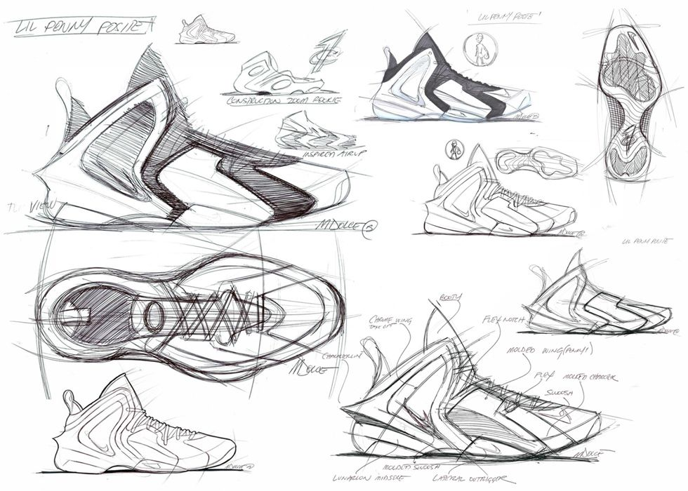 Marc Dolces Lil Penny Posite Design Is Your Sneaker Sketch