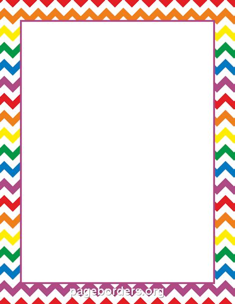 rainbow chevron border