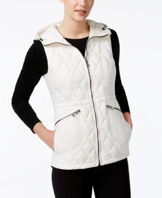 Calvin Klein Performance Quilted Down Vest In Cloud Modesens Blazer Jackets For Women Down Vest Clothes Design