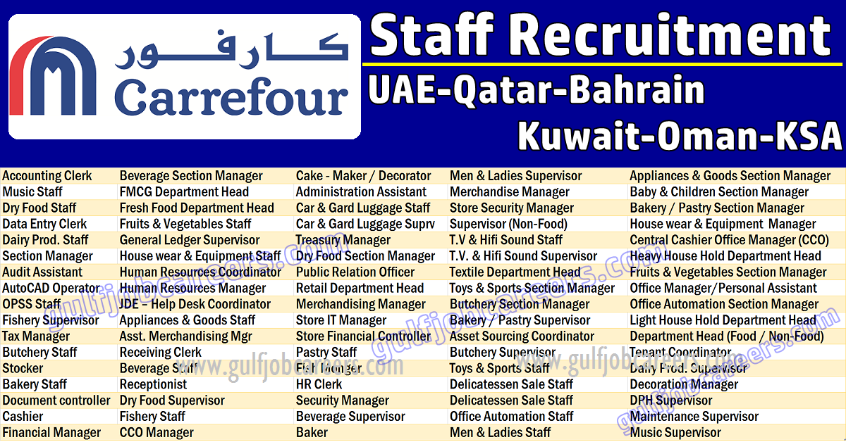 Job Vacancies in Carrefour Hypermarket | Job Search Oil & Gas Bomdevagas
