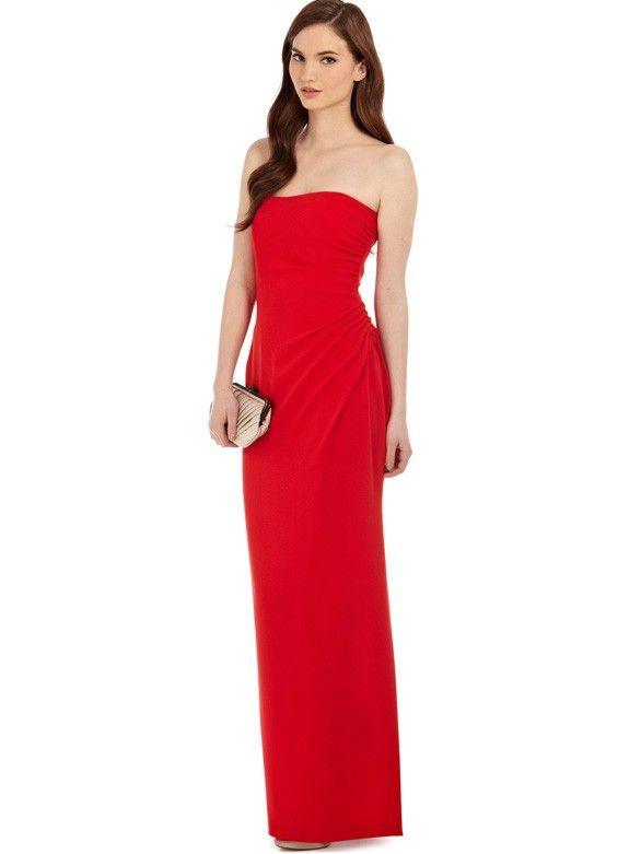 Elegante geraffte Abendkleider Rot Chiffon Lang | Abendkleider ...