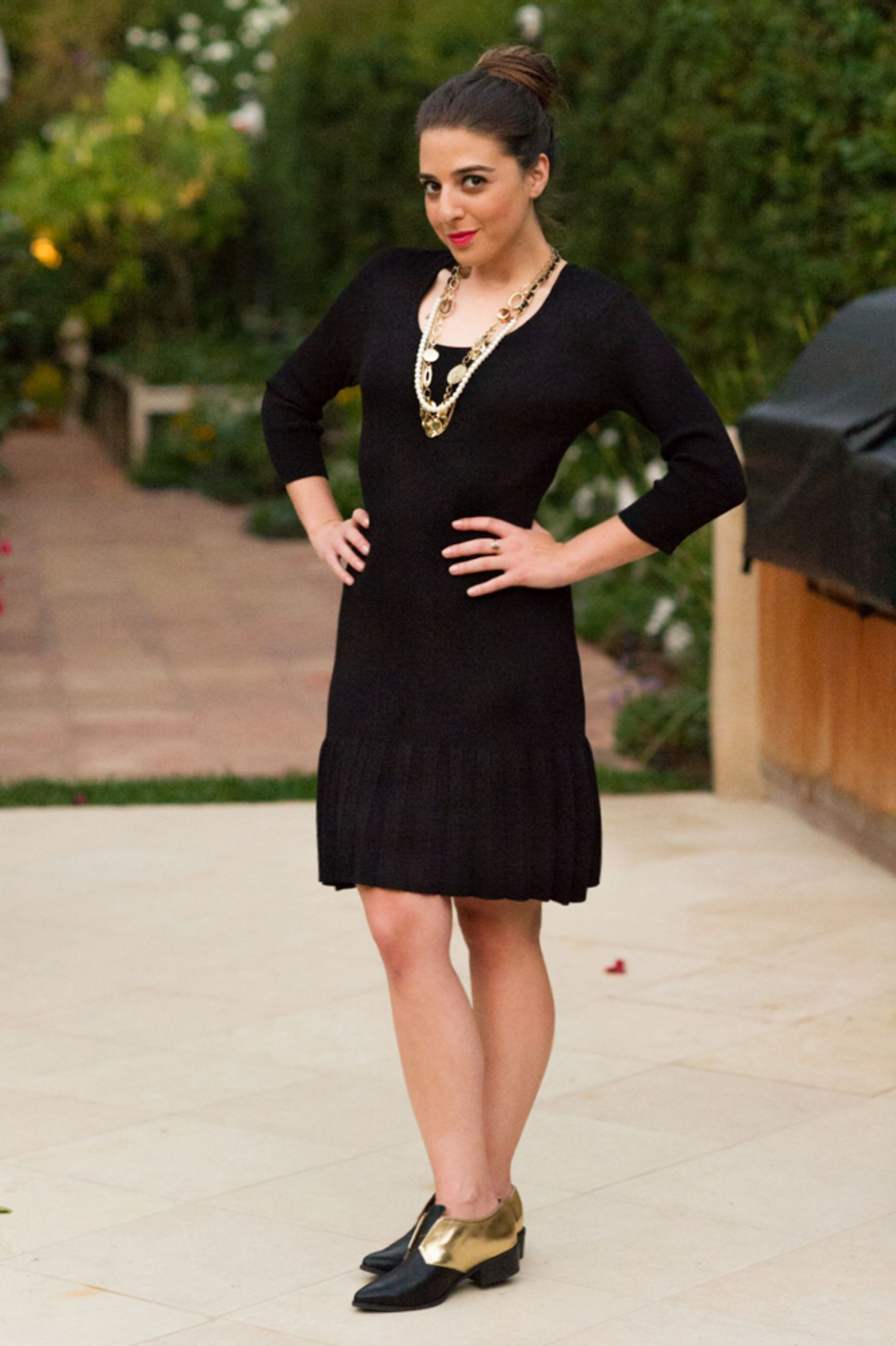 Work Outfit Idea: The Little Black Sweater Dress, Take 1! | Black ...