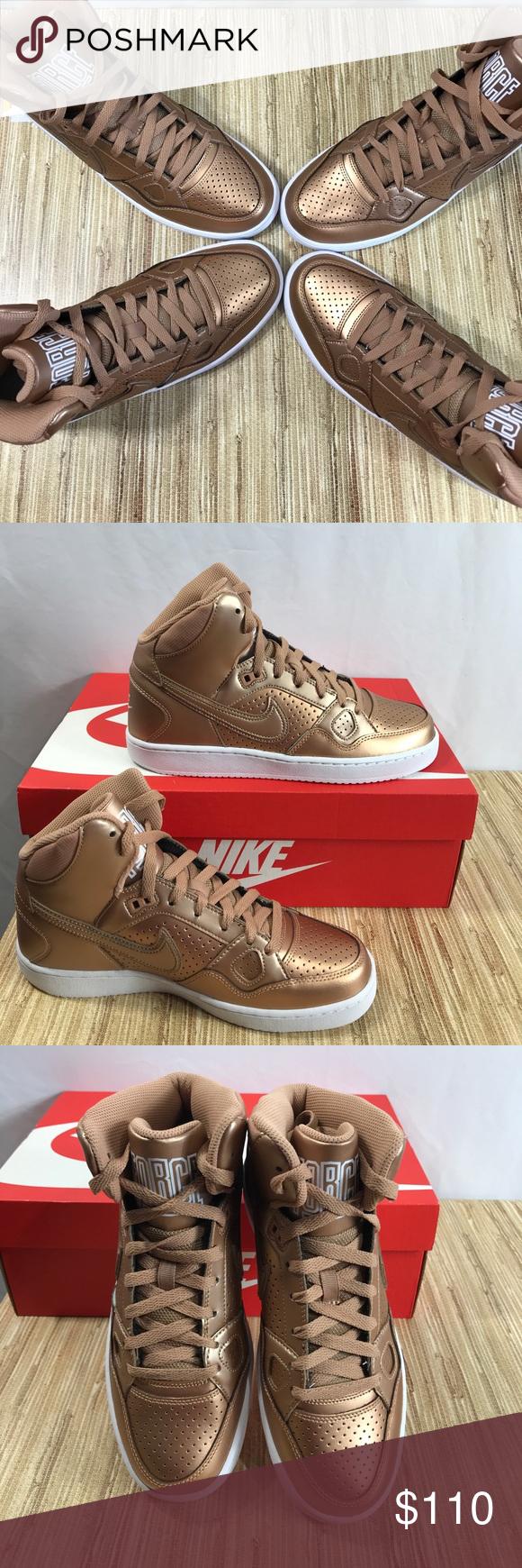 "c20b5e029f6c Bronze Nike Air Rose Gold Sneakers Metallic ""Metallic Bronze Beauties""  PRICE FIRM Son of Force Sneakers Rose Gold Air Force High Top Authentic  Shoes New in ..."