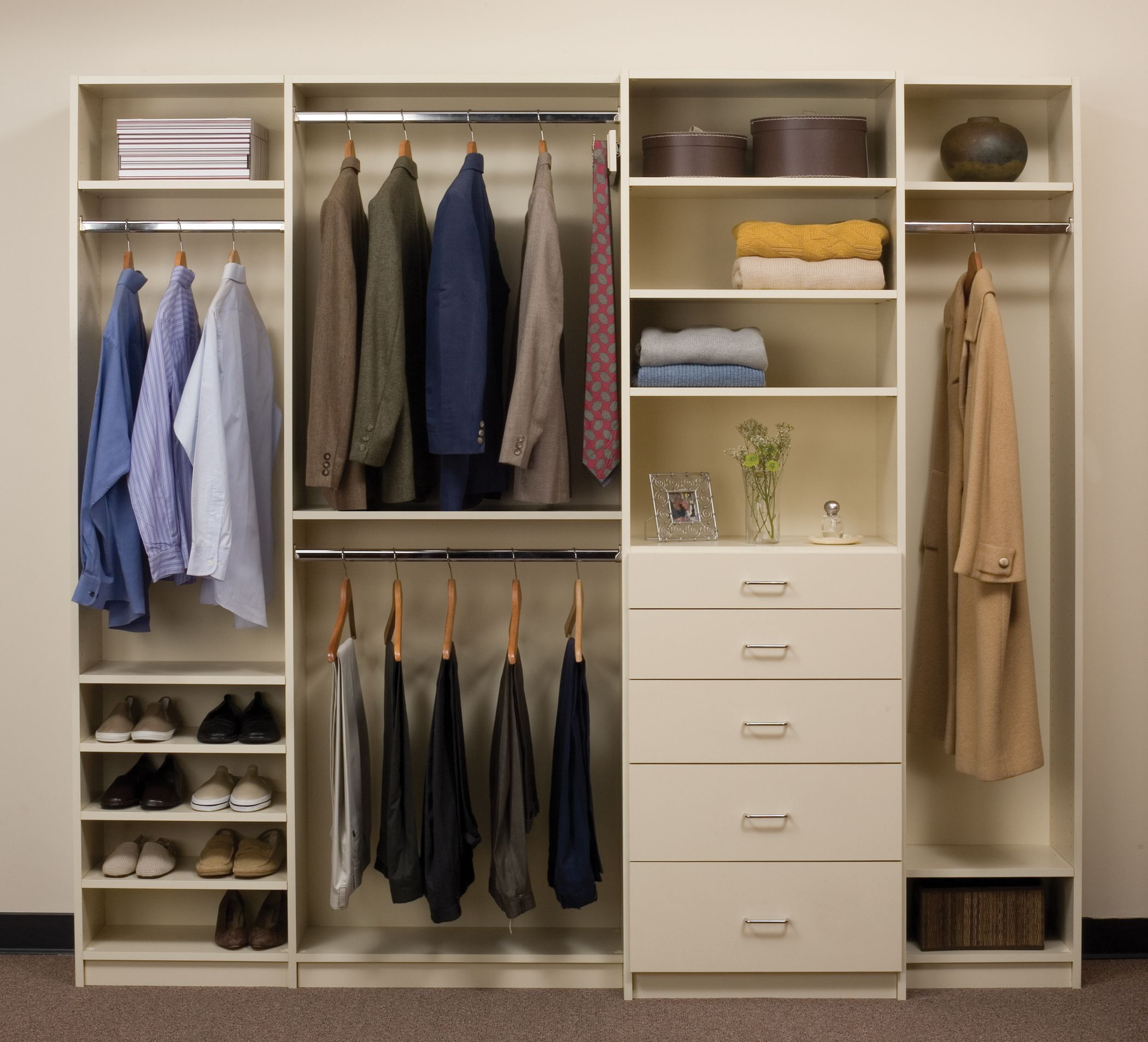The Everyday Reach In Closet System Includes Drawers Shelves