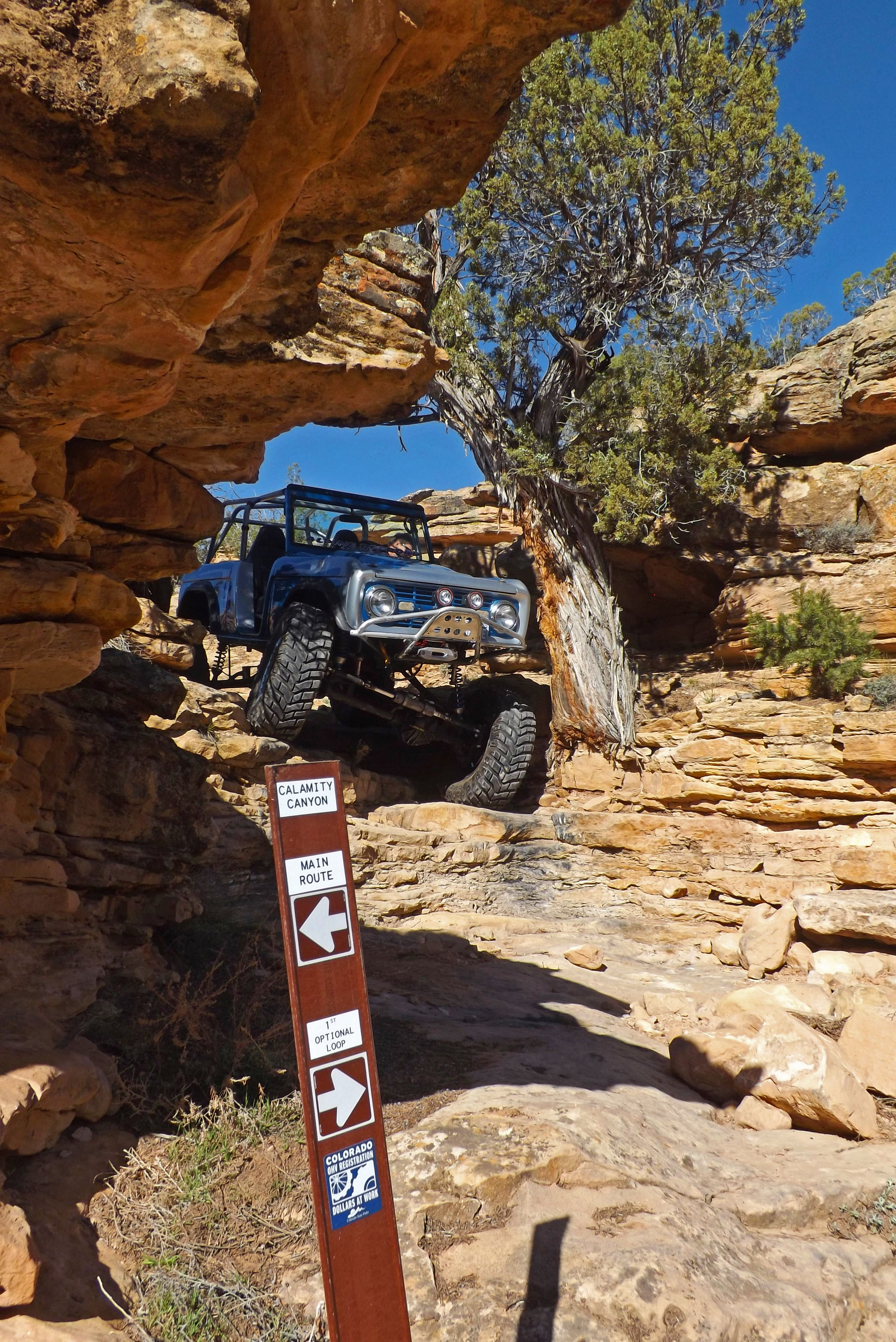 Alpine Off Road Of Montrose Colo Coming Down Calamity Canyon